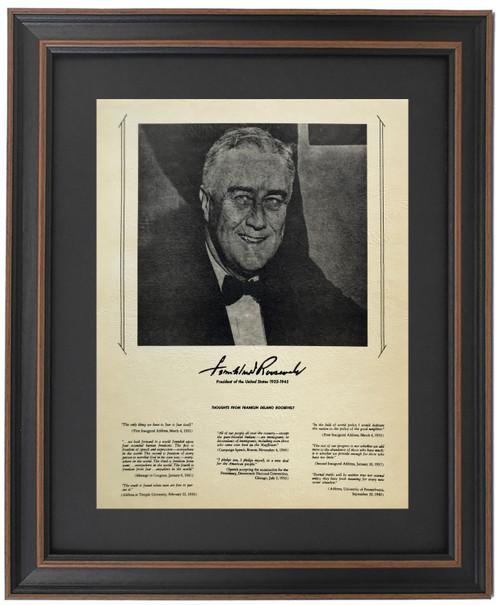 Framed Franklin D. Roosevelt Portrait & Quotes
