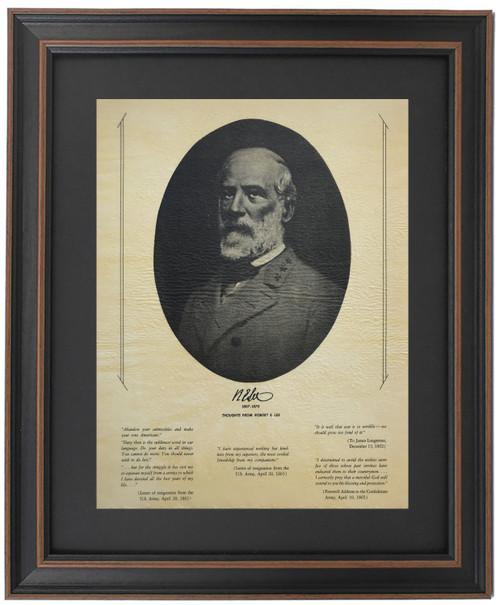 Framed Robert E. Lee Portrait & Quotes