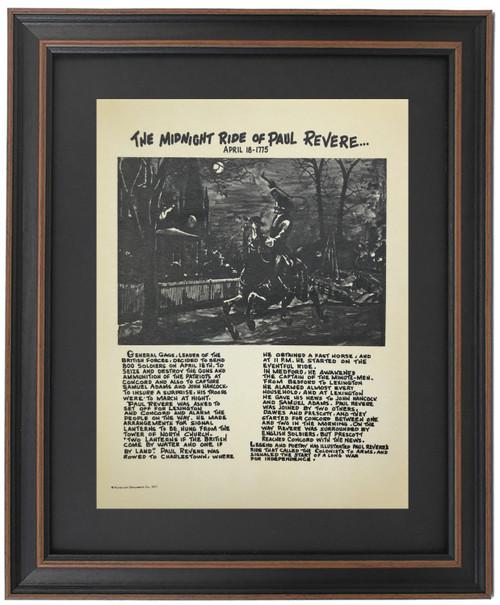 Framed Story of Midnight Ride of Paul Revere