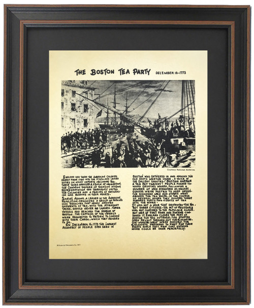 Framed Story of The Boston Tea Party