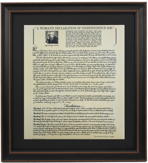 Framed A Woman's Declaration of Independence 1848
