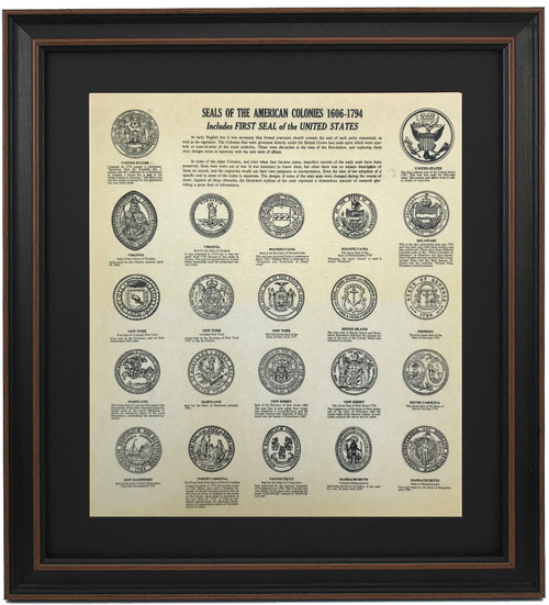 Framed Seals of The American Colonies 1606-1794