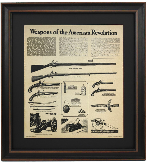 Framed Weapons of the American Revolution