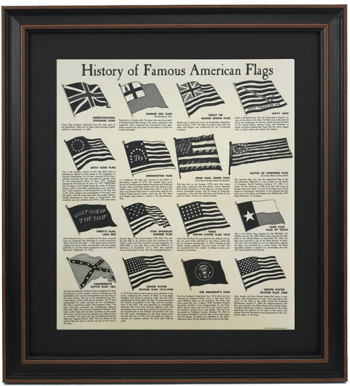 Framed History of Famous American Flags