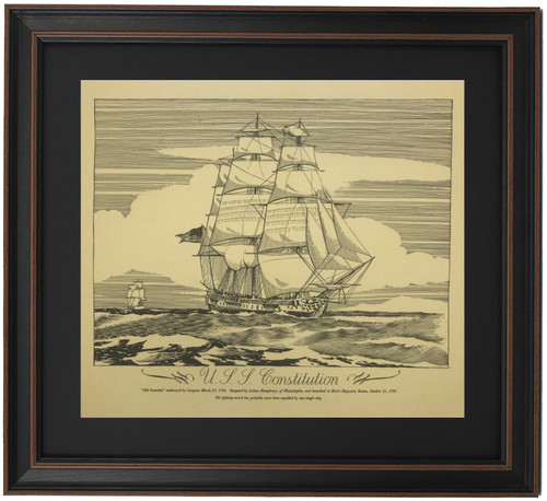 Framed Drawing of the USS Constitution