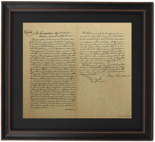 Framed Virginia Resolution of Independence