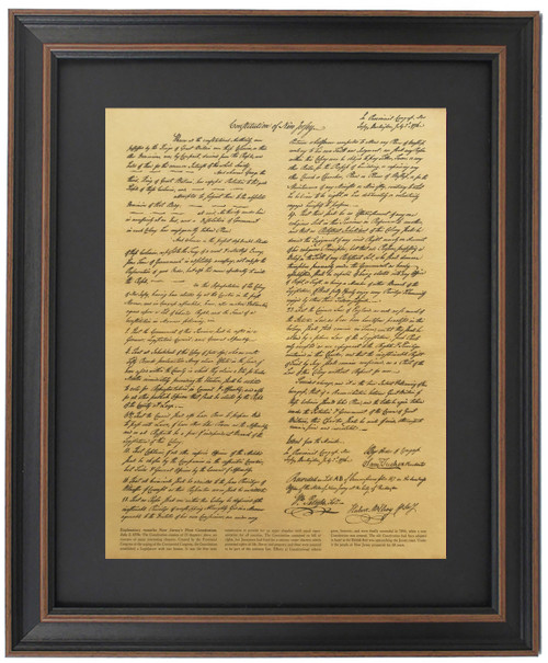 Framed First Constitution of New Jersey