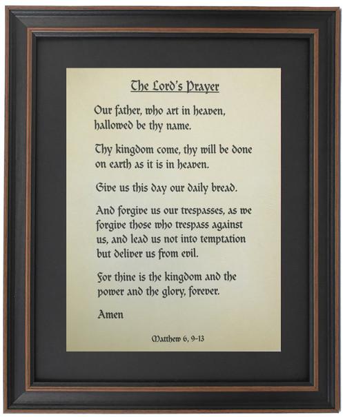 Framed The Lord's Prayer