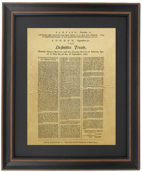 Framed Treaty of Paris 1783