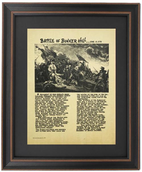 Framed Story of Battle of Bunker Hill