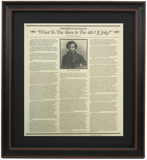 Framed Frederick Douglass Speech - What To The Slave Is The 4th Of July