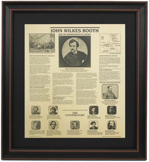 Framed Story of John Wilkes Booth & Assassination of Lincoln