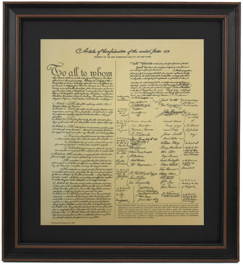 Framed Articles of Confederation