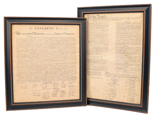 Framed Constitution & Declaration of Independence Set