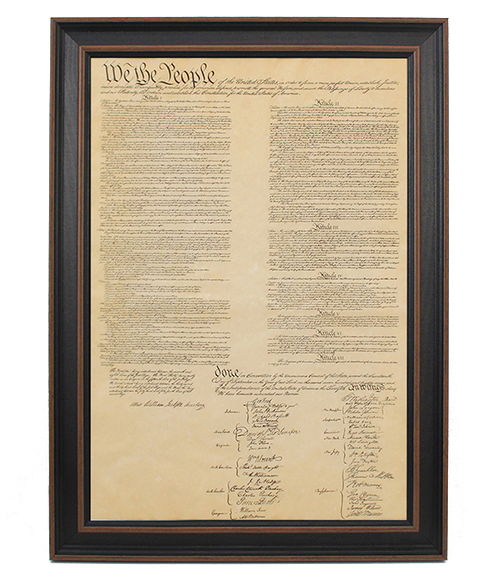 Framed United States Constitution