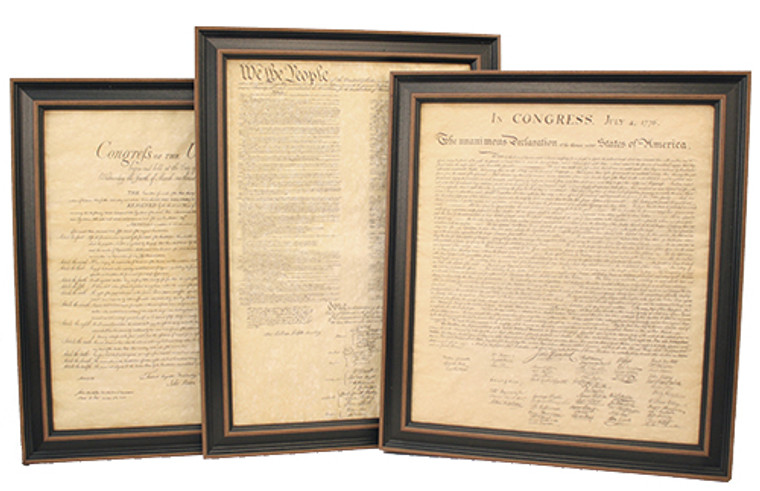 Framed Constitution, Declaration of Independence & Bill of Rights Set