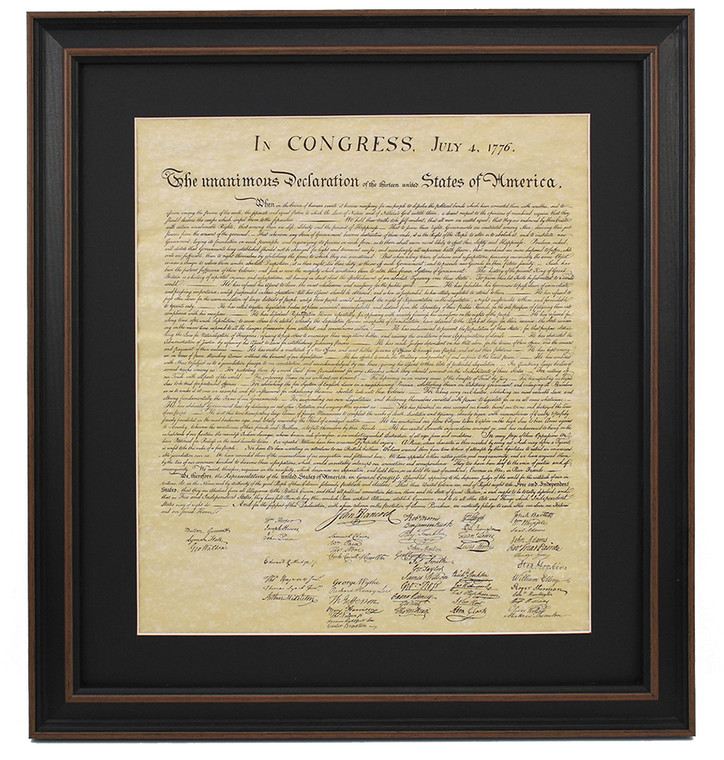 Poster Size Framed Declaration of Independence with Mat
