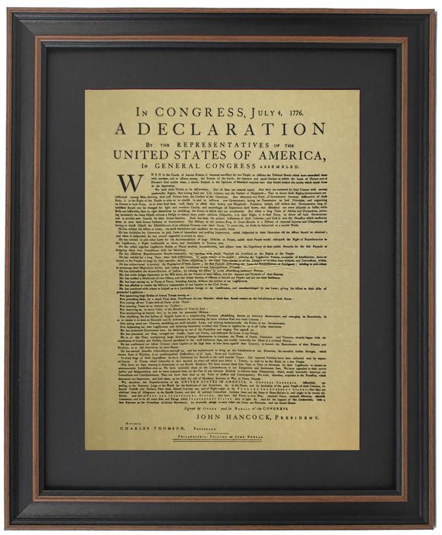 Framed Dunlap Broadside - Declaration of Independence