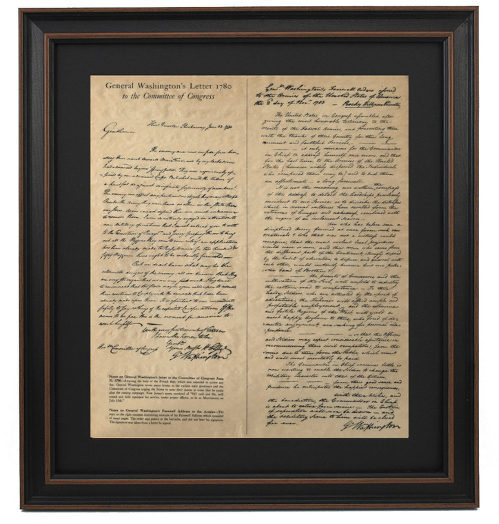 General Washington's Farewell Orders to Armies 1783 (Excerpts)