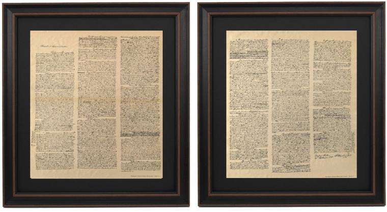 Framed Washington's Farewell Address Set 1796
