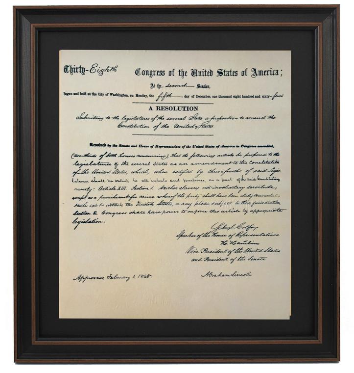 Framed Thirteenth Amendment