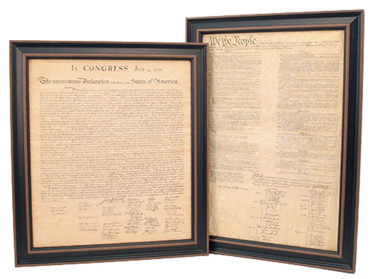 Framed Constitution & Declaration of Independence Set