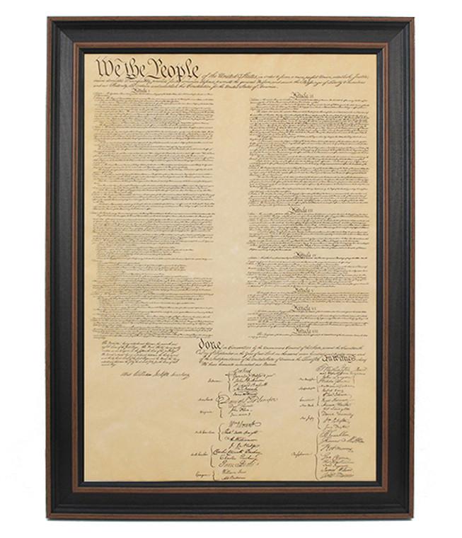 Framed United States Constitution