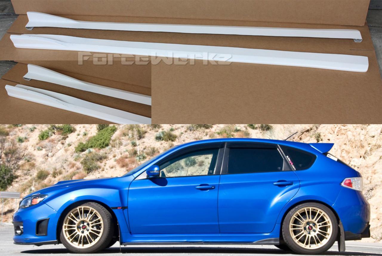 2008 2013 Subaru Impreza Wrx Sti Cs Side Skirts Forcewerkz Aero Usa