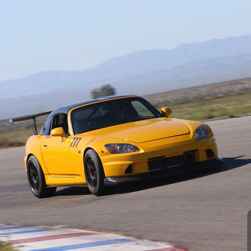 Time Attack Honda S2000 with VT Voltex Style Front Bumper & Lip Diffuser