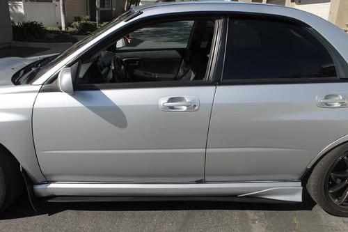2002-2007 Subaru WRX STi GD Side Skirt Extensions Diffusers Splitters - FRP