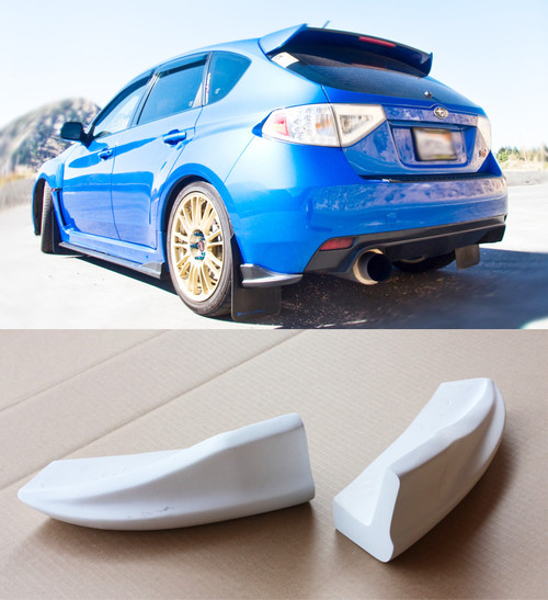 2008-2012 Subaru WRX STi Hatchback CS Rear Bumper Lip Spats