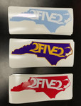 Red & White NC State Decal