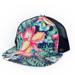 252 blue tropical flowers hat