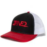 2five2 red black white richardson trucker snapback
