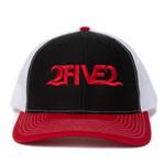 252 red black white hat