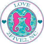 2five2 seahorse love sticker