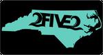 252 nc seafoam green license plate