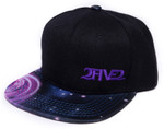 Side view of 2FIVE2 Black & Purple Galaxy Flatbill Hat