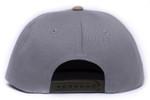 Back of 252 Gray Camo Flatbill Snapback Hat