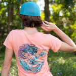 Coral, Seafoam Green & Purple Mermaid Tee