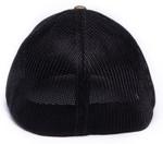 bacl view of 252 army camo black flexfit richardson 110 hat