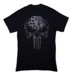 252 black skull usa tshirt
