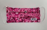Pink Paisley Mask