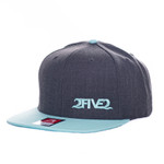 Heather Charcoal & Blue Tint Flatbill SNAPBACK