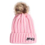 Pink Fur Pom Pom Beanie