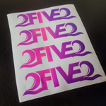 Pink Purple Color Changing Decal