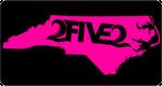 Black & Neon Pink NC License Plate