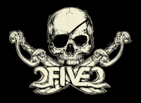 2FIVE2 Pirate Skull Sticker OBX