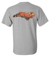 252 nc camo and orange tshirt