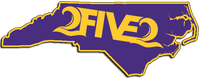 purple and gold 252 east carolina sticker